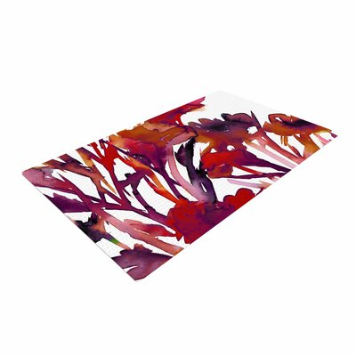 Ebi Emporium Pocket Full of Posies Maroon/Purple Area Rug