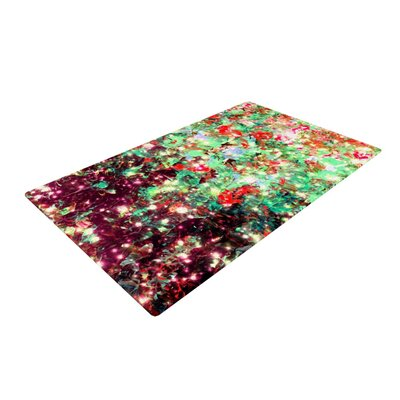 Ebi Emporium Mistletoe Nebula Red/Green Area Rug