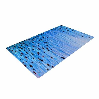 Ebi Emporium Mystic Garden 3 Blue/Red Area Rug Rug Size: 4 x 6