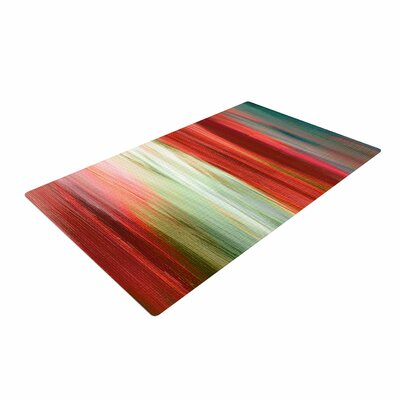 Ebi Emporium Irradiated Multi 1 Red/Olive Area Rug