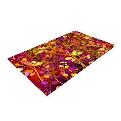 Ebi Emporium Amongst the Flowers - Warm Sunset Pink/Orange Area Rug Rug Size: 2 x 3