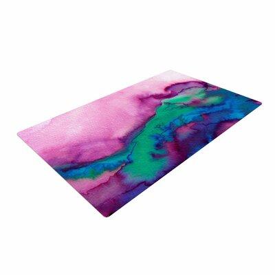 Ebi Emporium Winter Waves 2 Watercolor Pink Area Rug Rug Size: 4 x 6