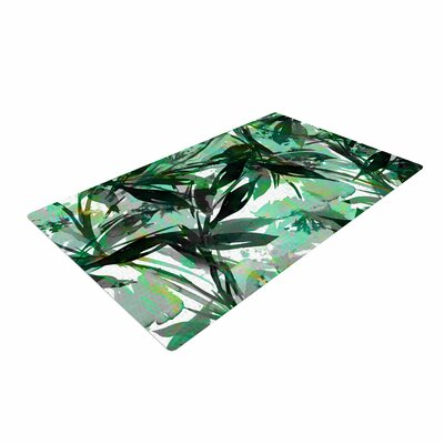 Ebi Emporium Floral Fiesta Watercolor Pattern Green Area Rug