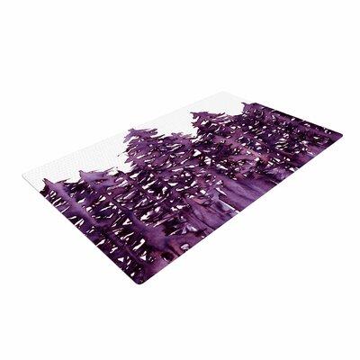 Ebi Emporium Forest Through the Trees 2 Purple/White Area Rug