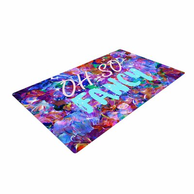 Ebi Emporium Oh So Fancy Blue/Purple Area Rug Rug Size: 4 x 6