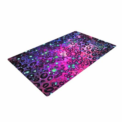Ebi Emporium Rainbow Dotty Ocean Pink/Black/Purple Area Rug