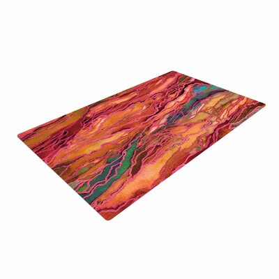 Ebi Emporium Marble Idea! Tropic Fusion Orange/Red Area Rug Rug Size: 4' x 6'