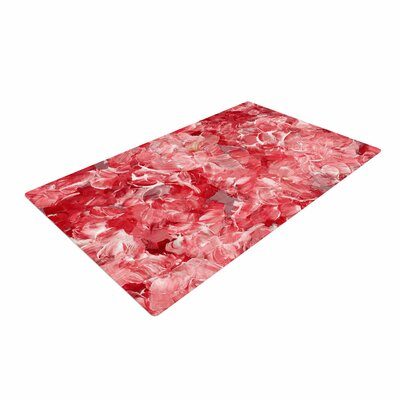 Ebi Emporium Bloom on! Abstract Pink/Red/White Area Rug Rug Size: 4 x 6