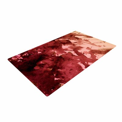Ebi Emporium Splash out Coral Maroon Orange Area Rug
