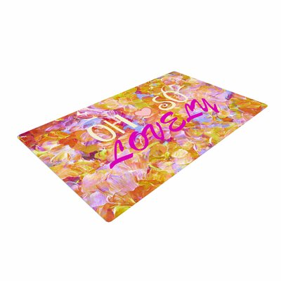 Ebi Emporium Oh So Lovely Yellow/Pink Area Rug Rug Size: 4 x 6