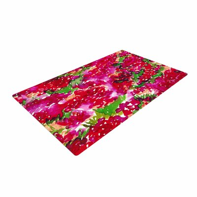 Ebi Emporium Floral Assumption Green/Pink/Red Area Rug