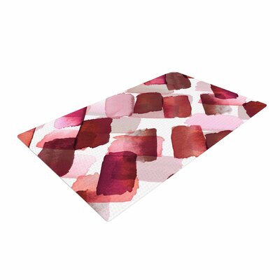 Ebi Emporium Strokes of Genius 7 Red/Pink Area Rug