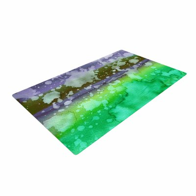 Ebi Emporium California Surf 3 Green/Teal Area Rug Rug Size: 2 x 3