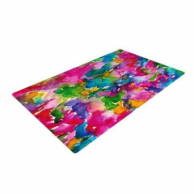 Ebi Emporium Summer Swirls Pink/Green Area Rug Rug Size: 4 x 6