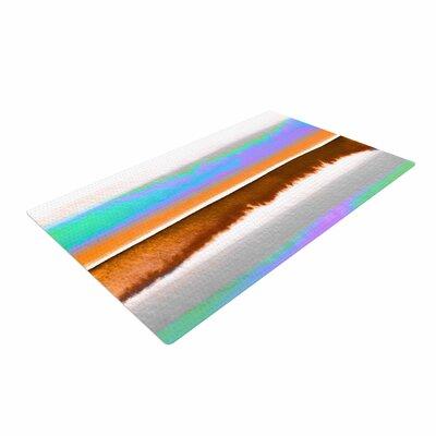 Ebi Emporium Prism Stripes 1 Purple/Aqua Area Rug Rug Size: 4 x 6
