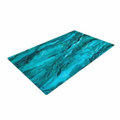 Ebi Emporium Marble Idea! Aqua/Blue Area Rug Rug Size: 4 x 6