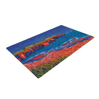 Jeff Ferst Sea Shore Painting Coastal/Orange Area Rug Rug Size: 4 x 6
