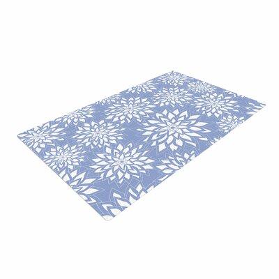 Julia Grifol Garden White/Blue Area Rug Rug Size: 4 x 6