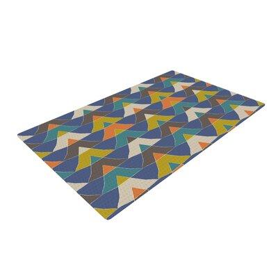 Julia Grifol Colorful Triangles Multicolor Area Rug