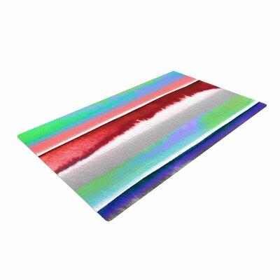Ebi Emporium Prism Stripe 2 Red/Blue Area Rug Rug Size: 4 x 6