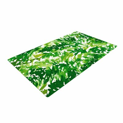 Ebi Emporium In the Meadow 1 Abstract Painting Green/White Area Rug