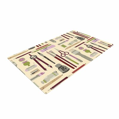 Judith Loske Art Supplies Pattern Tan Area Rug