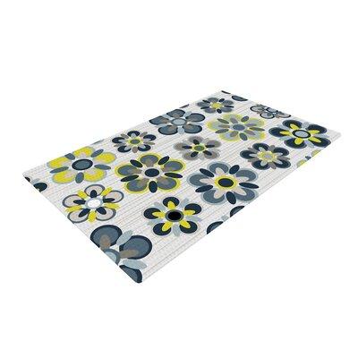 Jolene Heckman Folksy Yellow/Gray Area Rug Rug Size: 2 x 3