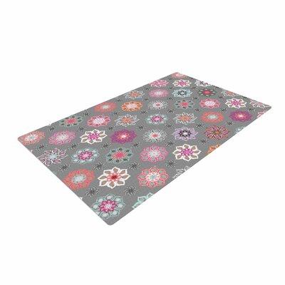 Jolene Heckman Mini Floral Pink/Gray Area Rug