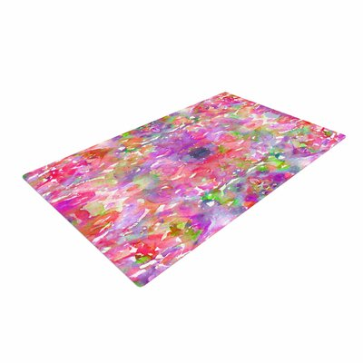 Ebi Emporium Jewel in the Crown Coral Pink/Purple Area Rug Rug Size: 4 x 6