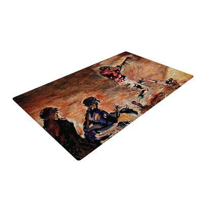 Josh Serafin Its Gone! Brown/Red Area Rug Rug Size: 4 x 6