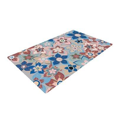 Jolene Heckman Marsala Floral Mix Pink/Blue Area Rug Rug Size: 4 x 6