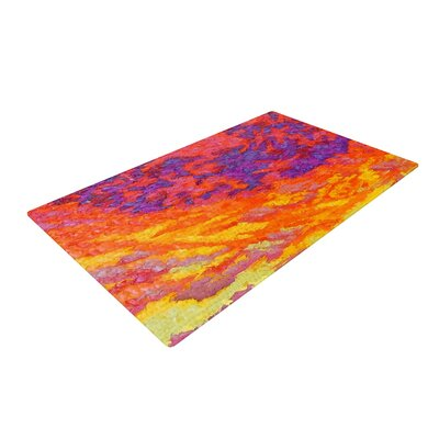 Jeff Ferst View From the Foothills Orange/Purple Area Rug Rug Size: 4 x 6