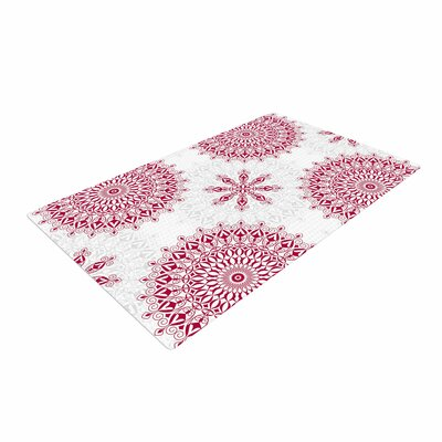 Julia Grifol Geometric Mandalas Red/White Area Rug