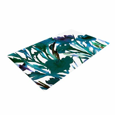 Ebi Emporium Petal for Your Thoughts Turquoise/Green Area Rug Rug Size: 4 x 6