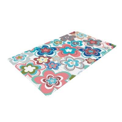 Jolene Heckman a Marsala Morning Floral Blue/Pink Area Rug Rug Size: 2 x 3