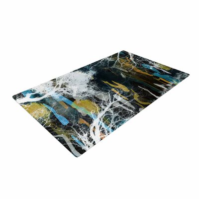 Iris Lehnhardt Tree of Life Abstract Blue Area Rug