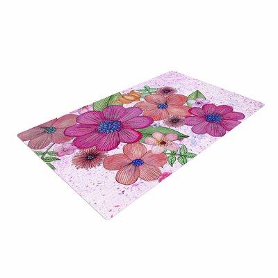 Julia Grifol My Garden Floral Magenta/Pink Area Rug