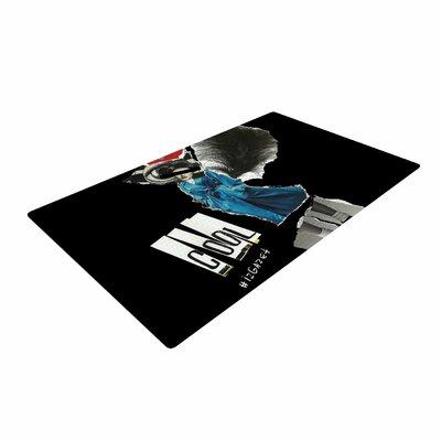 Jina Ninjjaga Cool Black/Blue Area Rug