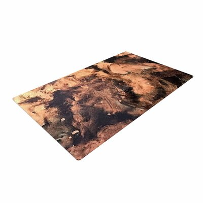 Abstract Anarchy Design King Midas Abstract Brown Area Rug