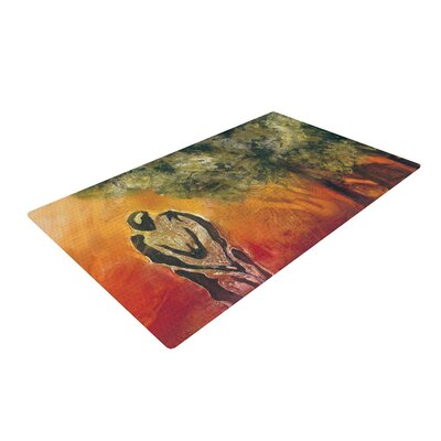 Josh Serafin Par Golf Red/Orange Area Rug Rug Size: 2 x 3