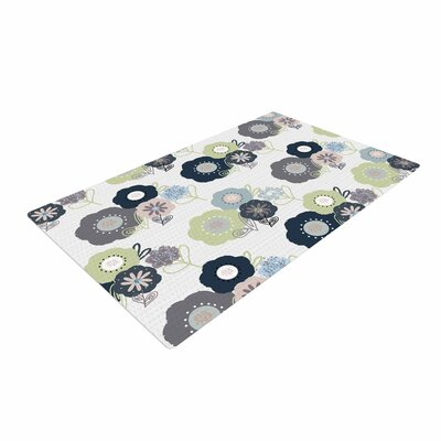 Jolene Heckman Floral Bunches Blue/Green Area Rug