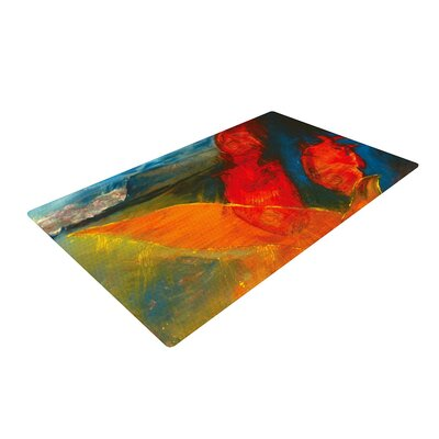 Josh Serafin Whats Beneath My Feet Fish Seagull Red/Orange Area Rug Rug Size: 2 x 3