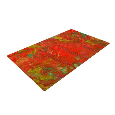 Jeff Ferst Crimson Forest Red/Green Area Rug Rug Size: 2 x 3