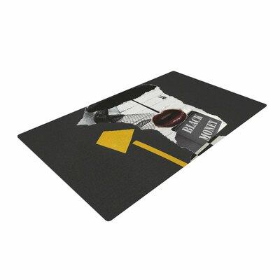 Jina Ninjjaga Lamp Pop Art Black/Yellow Area Rug