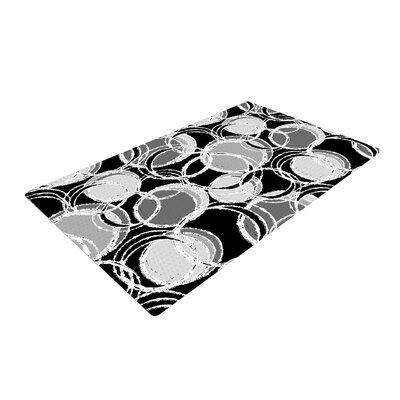 Julia Grifol Simple Circles Black/Gray Area Rug