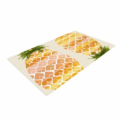 Judith Loske Happy Pineapples Yellow/Gold Area Rug