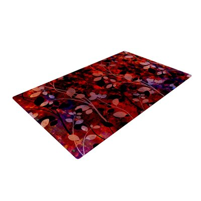 Ebi Emporium Amongst the Flowers - Summer Nights Red/Black Area Rug Rug Size: 4 x 6