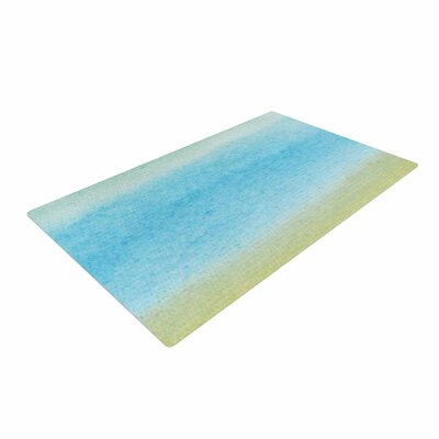 Jennifer Rizzo Watercolor Paint Stripe Blue/Tan Area Rug