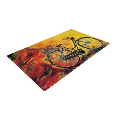 Josh Serafin to Go Bicycle Yellow Area Rug Rug Size: 2 x 3