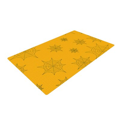 Mini Webs Orange Area Rug